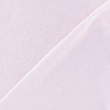 Tissu Velours éponge jersey rose x 10cm