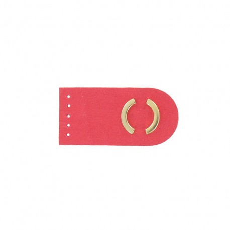 Sew-on leather snap fastener Summer - pink