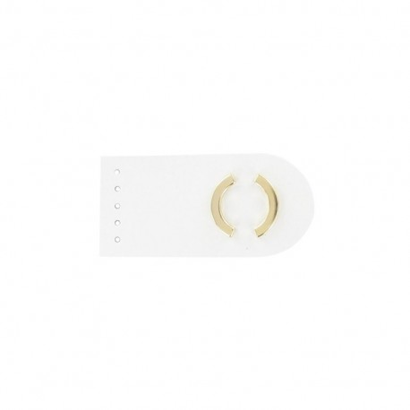 Sew-on leather snap fastener Summer - white