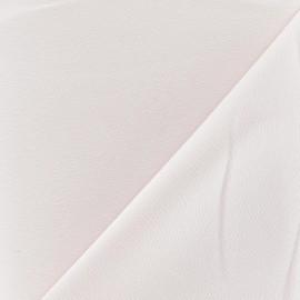 Tissu crêpe envers satin rose dragée x 10cm