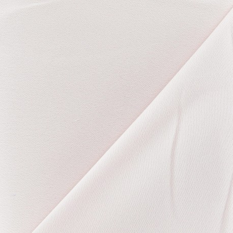 Crepe with satin reverse side Fabric - dragée pink x 10cm