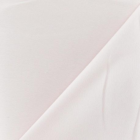 Tissu crèpe envers satin rose dragée x 10cm