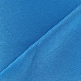 Crepe with satin reverse side Fabric - turquoise x 10cm