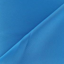Tissu crèpe envers satin turquoise x 10cm