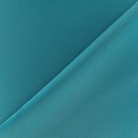 Tissu crèpe envers satin paon x 10cm