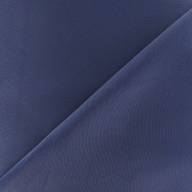 Crepe with satin reverse side Fabric - blue grey x 10cm