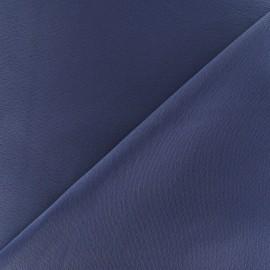 Tissu crêpe envers satin gris bleu x 10cm
