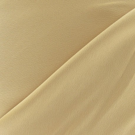 Crepe with satin reverse side Fabric - bronze x 10cm