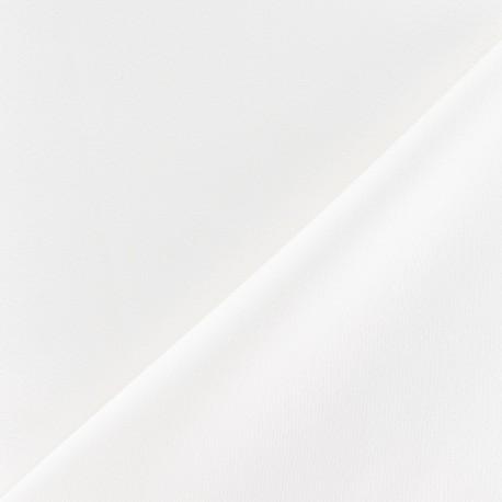 Tissu crèpe envers satin blanc cassé x 10cm