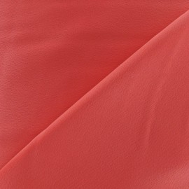 Crepe with satin reverse side Fabric - coral x 10cm
