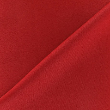 Crepe with satin reverse side Fabric - red x 10cm