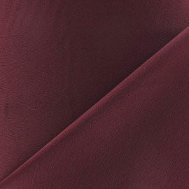 Tissu crèpe envers satin lie de vin x 10cm