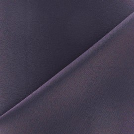 Crepe with satin reverse side Fabric - purple x 10cm