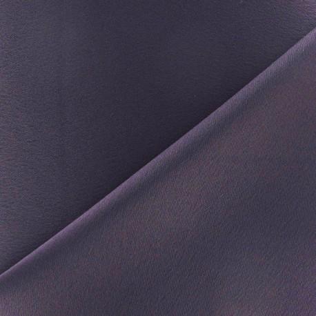Tissu crèpe envers satin violet x 10cm