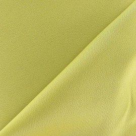 Crepe with satin reverse side Fabric - lime x 10cm