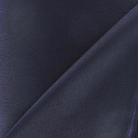 Crepe with satin reverse side Fabric - navy x 10cm
