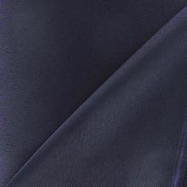 Tissu crèpe envers satin marine x 10cm