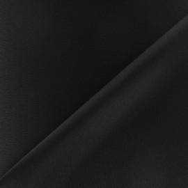 Tissu crèpe envers satin noir x 10cm