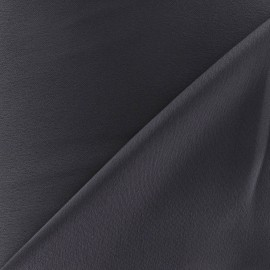 Crepe with satin reverse side Fabric - grey x 10cm