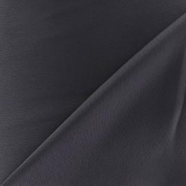 Tissu crèpe envers satin gris x 10cm