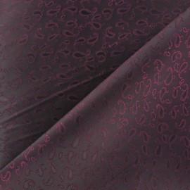 Tissu Doublure Jacquard pourpre x 10cm