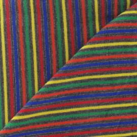 Tissu jersey multi rayures 2 mm sur fond gris x 10cm