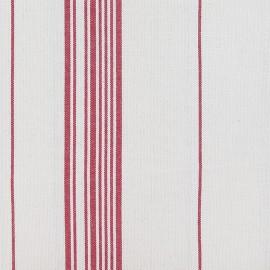 Tissu toile coton rayures classiques - rouge x 10cm