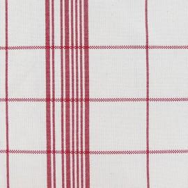 Tissu toile coton carreaux rouge x 10cm