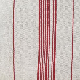Metis Canvas Fabric - Squares Red x 10cm