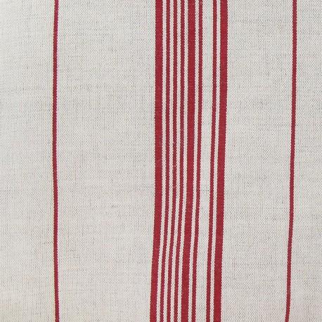 Metis Canvas Fabric - Squares Red x 10cm