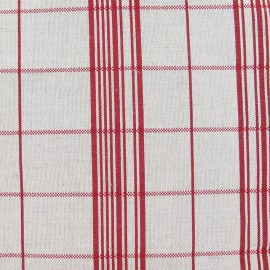 Metis Canvas Fabric - Stripes Red x 10cm