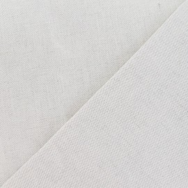 Metis Canvas Fabric plain linen x 10cm