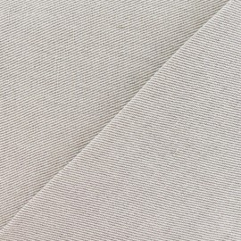 Tissu toile métis croisée uni lin 630gr (170cm) x 10cm