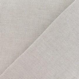 Tissu toile métis croisée uni lin 630gr x 10cm