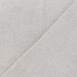 Tissu toile métis nattée uni lin - grain de riz 630gr x 10cm