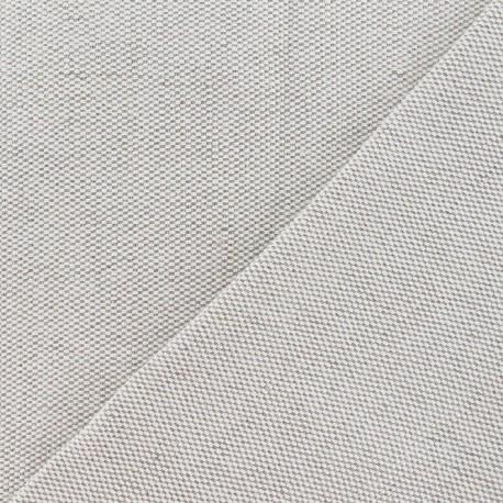 Metis Canvas Fabric nattée uni linen - grain de riz 630gr x 10cm