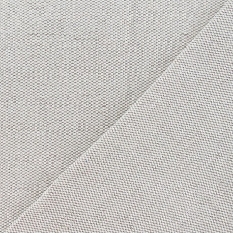 Tissu toile métis nattée uni lin 630gr x 10cm