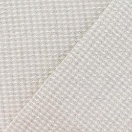 Tissu toile métis nid d'abeille lin x 10cm