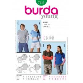 Patron T-shirt Burda n°7916