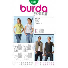 Vest Sewing Pattern Burda n°7810