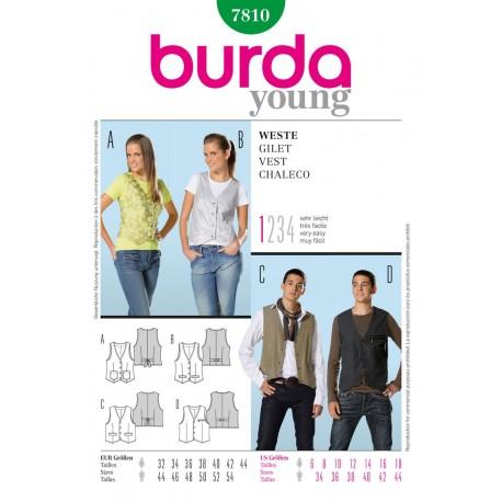 Patron Gilet Burda n°7810