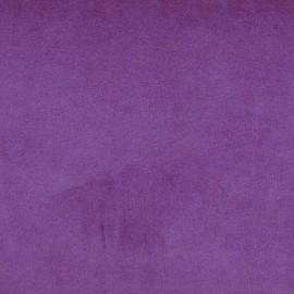 Jersey sponge velvet fabric - eggplant x 10cm