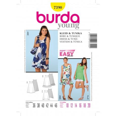 Patron Robe & Tunique Burda n°7390