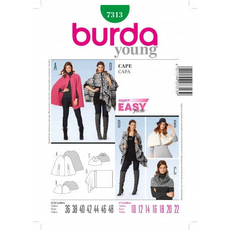 Cape Sewing Pattern Burda n°7313
