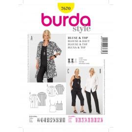 Patron Blouse & Haut Burda n°7670