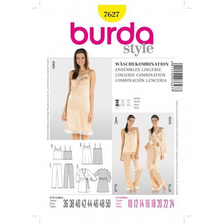 Lingerie Combination Sewing Pattern Burda n°7627