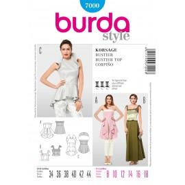 Patron Bustier Burda n°7000