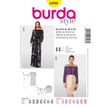 Patron Robe & Blouse Burda n°6998
