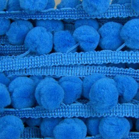 Galon pompon bleu