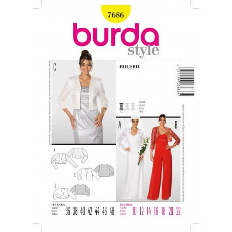 Bolero Sewing Pattern Burda n°7686